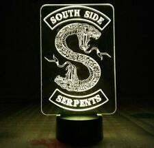 Riverdale Snake 3D Acrylic LED 7 Colour Night Light Touch Table Desk Lamp Gift