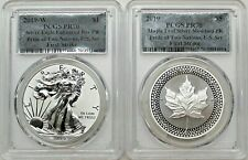 2019 Pride of Two Nations Silver Eagle & Silver Maple Leaf PCGS PR70 First Strik