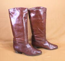 7S Salamander Damen Stiefel Slouch Boots Leder braun Gr.  40 Vintage Boho