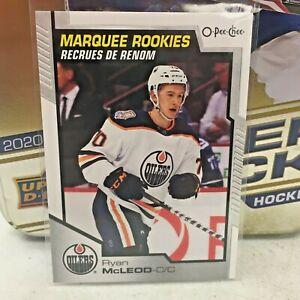 2020-21 Upper Deck NHL O-Pee-Chee Marquee Rookies Ryan McLeod Oilers