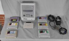 Console jeu video vintage Super Nontendo et jeux à tester