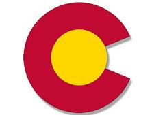 """4x4 inch Colorado """"C Logo"""" Shaped Sticker - shape co logo love denver state flag"""