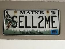 Sell 2 ME Maine License Plate Tag Vanity