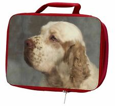 More details for clumber spaniel dog insulated red school lunch box/picnic bag, ad-cs1lbr