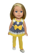 Summer Daisies Leggings Set For Wellie Wisher 14 Inch Doll Clothes