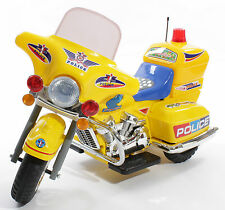 New Kids Ride On Car Police Style Electric Motorbike 6v Battery Bike In Yellow
