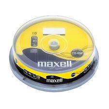 10 Maxell CD-RW 80Min 4X 700MB CD-ReWritable Spindle/Cake Box