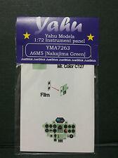 Yahu modèles 1/72 ème 04899 Revell, PE instrument panneaux A6M5 NAKAJIMA vert pour tamyia, yma7263