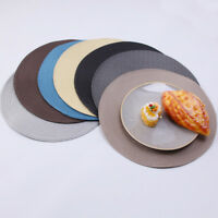 4/6PC Round Jacquard Weaved Non Slip Insulation Placemats Dining Table Mats Set