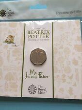 Beatrix Potter MR Jeremy Fisher 50p BU Coin