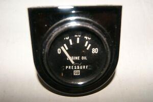"""NOS Stewart Warner vintage gauge 2 1/16"""" electric 12 Volt oil pressure"""