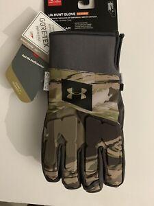 Under Armour Hunt Gloves Mid Season Windstopper Gore-Tex Primaloft Size L NWT