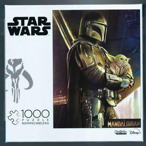 "New ""Disney Star Wars The Mandalorian & Baby Yoda (Grogu)"" 1000 Piece Puzzle"