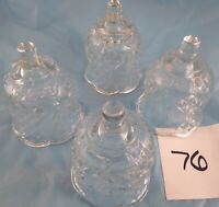 Votive Cups Set of 4 Homco Home Interior Crystal Clear Glass Pineapple Design
