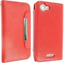 FOR SONY XPERIA L S36H C2104 C2105 LEATHER CASE COVER FLIP WALLET POUCH BACK