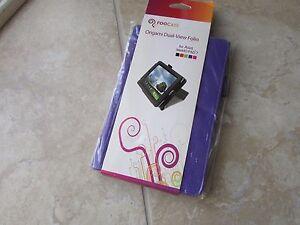 RooCase ASUS MeMOPad 7 PURPLE Leather Origami DualView Folio Case BOOK Stand