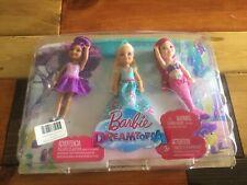 Barbie Dreamtopia Pack Lot of 2 Chelsea Dolls Mermaid Princess & Fairy