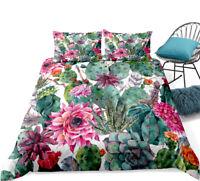 3D Succulent Plant Cactus Bedding Set Duvet Cover Pillowcase Comforter Cover set