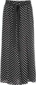 Womens Summer Floral Print Skirt Viscose Elasticated Waist Tie Belt 35 Inch KK45