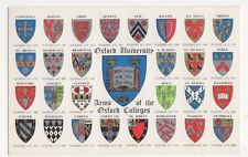 Oxford University, Arms of Colleges, Heraldic Coat of Arms Salmon Postcard, B300