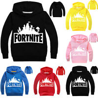 Kids Boys Long Sleeve Hoodies Hooded Tops Sweatshirt Sweater Winter Clothes Xmas