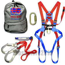 Fall Arrest Harness Double Web Lanyard Kit with Rucksack