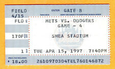 MINT! 4/15/97 METS/DODGERS TICKET STUB AT SHEA-MLB RETIRES JACKIE ROBINSON'S #42