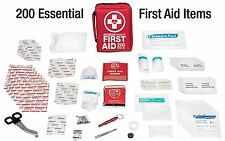 Premium First Aid Kit-200-Piece FDA Medical Supplies for Home-Office-Camping Aid