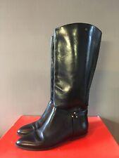 Vintage Black Riding Style Boots Ettienne Aigner Uk 5