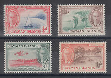 Cayman Islands Sc 122/131 MLH. 1950 KGVI Pictorials, 4 different, fresh & VF
