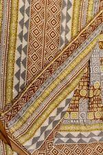 Vintage Indian Pure Silk Kantha SareeFabric Hand Embroidered  Printed Sari Wrap