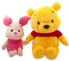 Disney Store Winnie The Pooh & Piglet Extra Large Gigante Peluche Morbido Giocattolo Set Nuovo