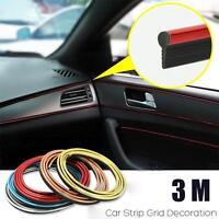 Cool 3/5/8M Decorative Stickers Auto Car Interior Decoration Strip Indoor Paster