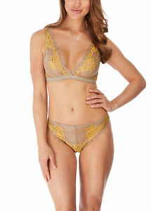 WACOAL LACE PERFECTION MOON ROCK SOFT CUP BRALETTE & TANGA SET 10 / S