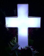 Eternal Light: Solar Powered Cross for Cemetery - Solar Lighted Cross for Gra...