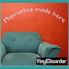 Memories made here Wall Quote Mural Decal-playroomquotes24