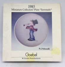 "Vintage 1985 Goebel Miniature Collectors' Plate ""serenade"" With Box"