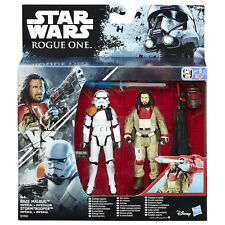 "Star Wars Rogue One 3.75"" Baze Malbus VS Imperial Stormtrooper Figures by Hasbro"