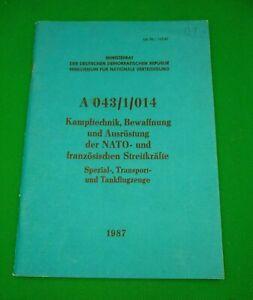 EAST GERMAN/DDR/NVA Training manual A 043/1/014 (Original)