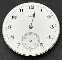 Elgin Grade 291 Pocket Watch Movement 16s Openface 7j Model 7 Parts Repair F5413