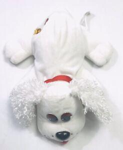 "Mattel 2004 Pound Puppies 12"" White Cocker Spaniel Poodle Dog Furry Ears"