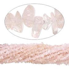"""Rose Quartz Chip Beads  34"""" - 36"""" Endless Strand (1)"""