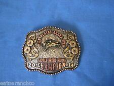 Saddle Bronc Mortenson Custom Silver Engraved RodeoTrophy Belt Buckle Awards