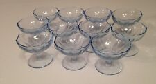 11 ANTIQUE CAMBRIDGE GLASS  WILLOW BLUE very small FOOTED compotes 3.5 oz