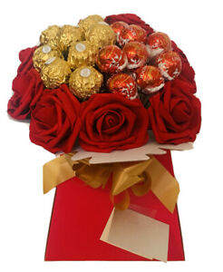 Chocolate Lindt Gift Box Hamper Ferrero Rocher Bouqet personalised Christmas