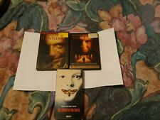 3 horror movie lot, Silence of the lambs, Red Dragon, Hannibal