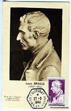 France Carte Maximum  1948 LOUIS BRAILLE    Yt 793