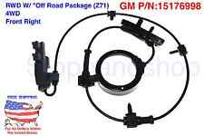 New ABS Wheel Speed Sensor for RWD w/ Off Road Suspension Z71 4WD Front Right