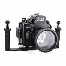 Meikon 60m Waterproof Camera DivingHousing Case for Nikon D800 + Aluminium Tray