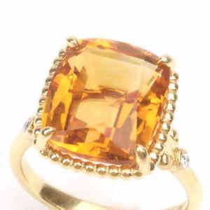 Tiffany & Co. Yg750 Sparkler Ring Citrine About 12 0039